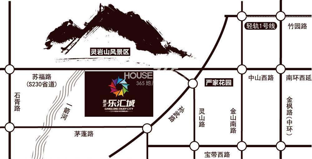 港龙乐汇城交通图