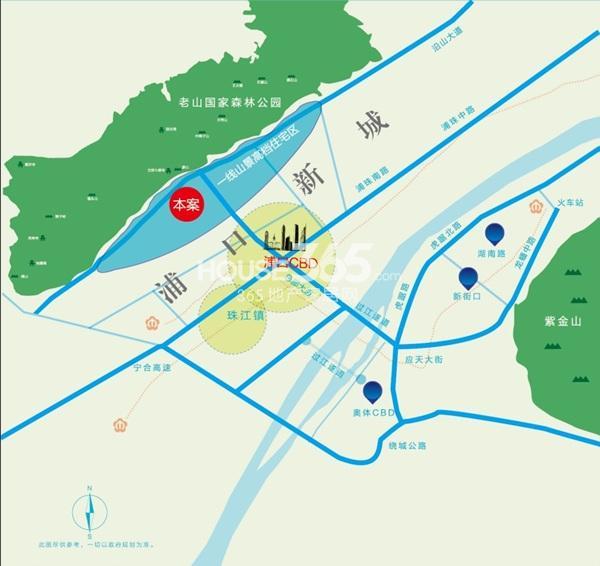 华府国际交通图