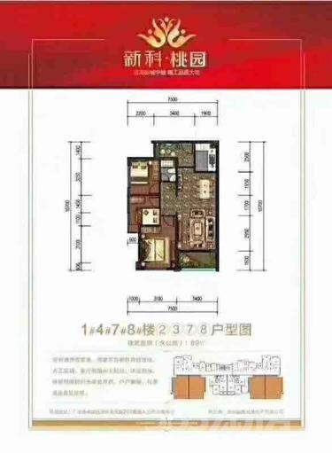 新科桃园3室2厅2卫95平米毛坯使用权房2018年建