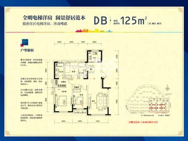 中海康城DB户型图125平米