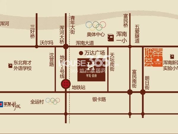 华发岭南荟交通图