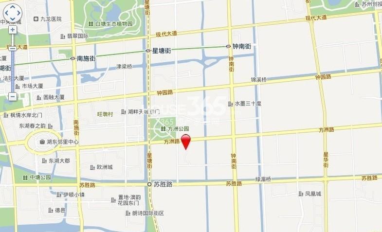 中海名门交通图
