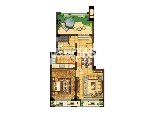 42#楼 四层平面图