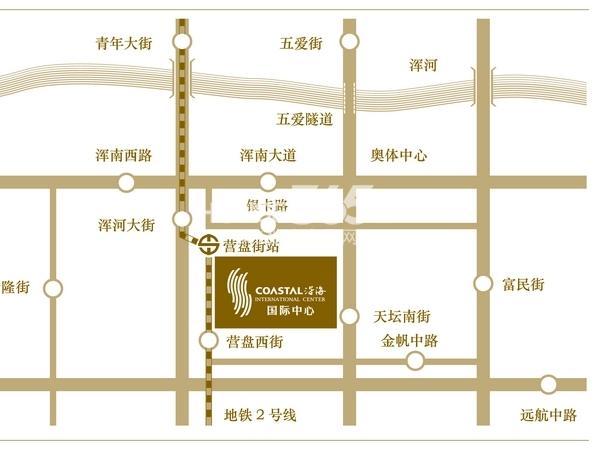 沈阳沿海国际中心交通图