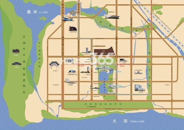 富力十号交通图