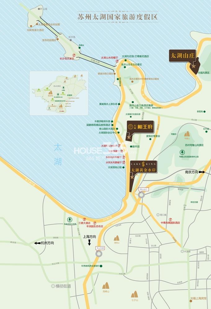 太湖黄金水岸交通图