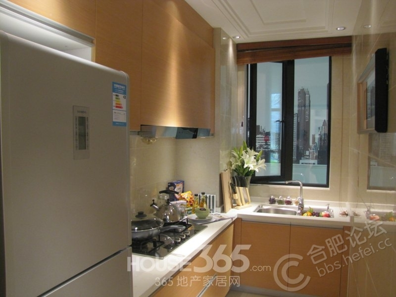合肥万达文化旅游城95平米样板房厨房(2013.11)