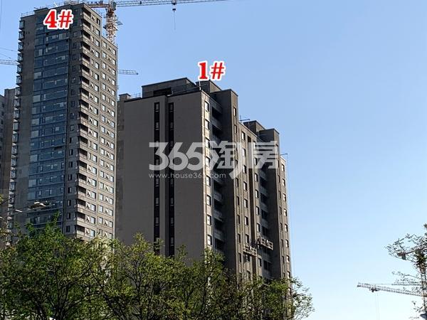 万科翡翠东方1#、4#楼工程实景(2020.4.28摄)