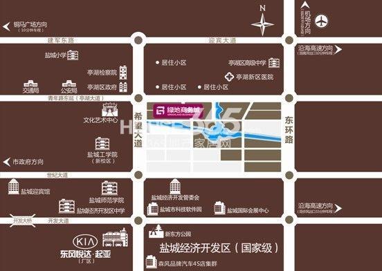 绿地商务城交通图