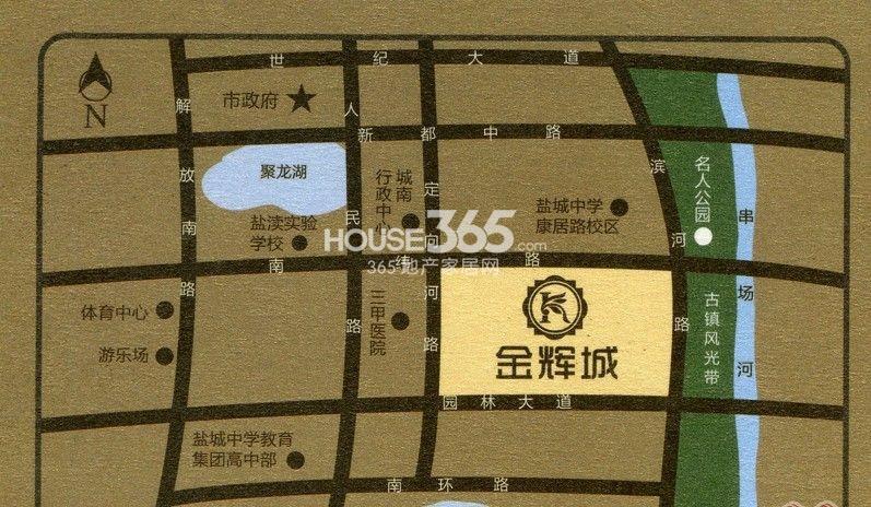 盐城金辉城交通图
