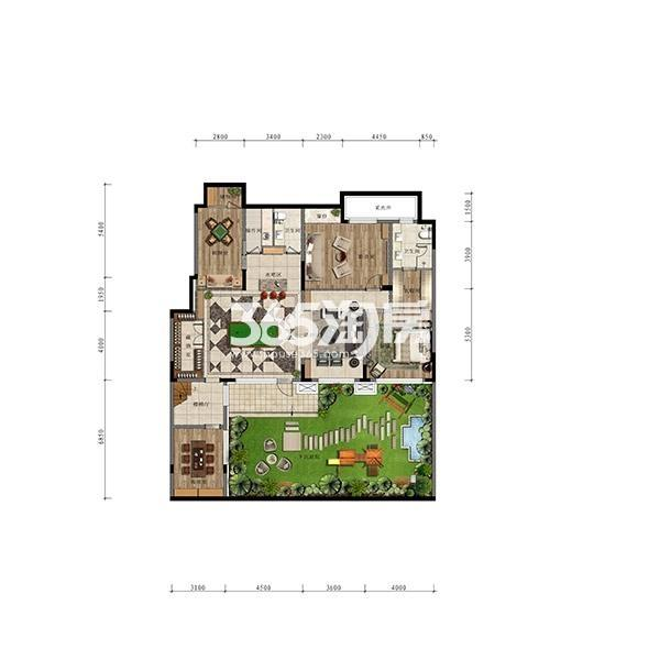 (1T2)168平五室大洋房边户首层地下一层(全赠送)