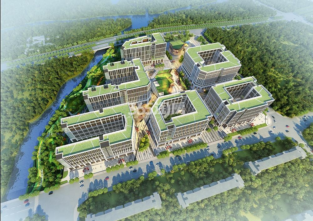 泰禾中央广场鸟瞰图