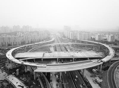 江北浦泗枢纽建设有序推进 两个匝道于元旦通车