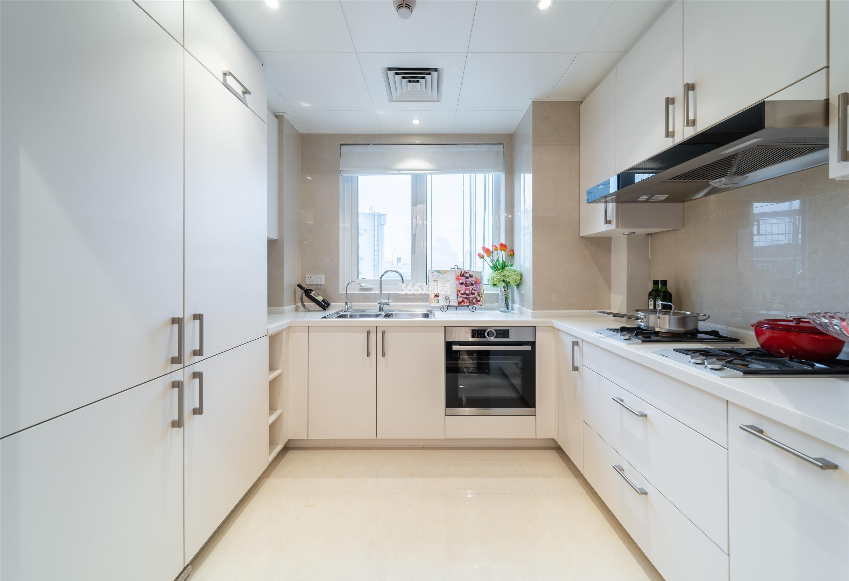 滨江保利翡翠海岸3#西边套159方(C2户型)古典风格样板房---厨房