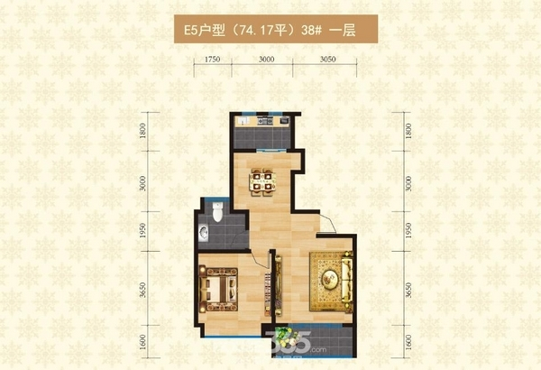 海螺永盛花园E5户型(38#一层)