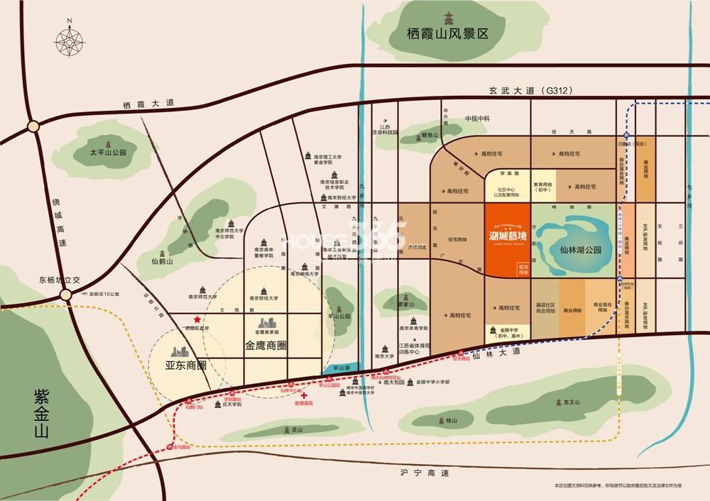 金地湖城艺境交通图
