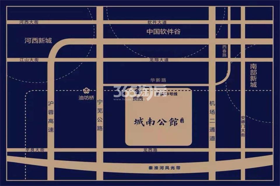 中海城南公馆交通图