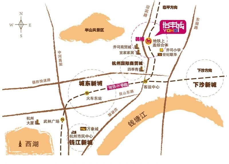 东田怡丰城交通图