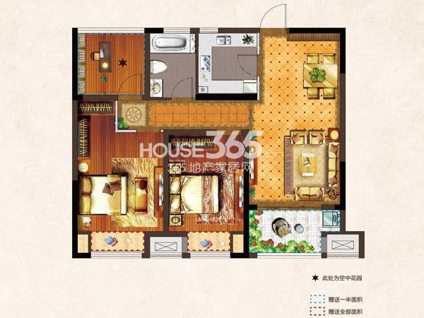 河枫御景C 88.65平 2+1房2厅1卫