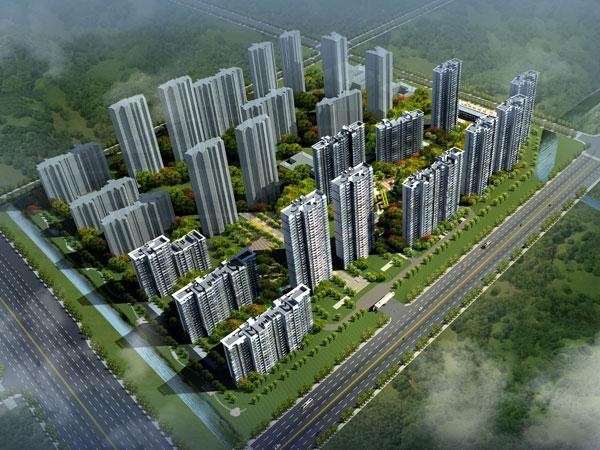 银城尚锦城鸟瞰图
