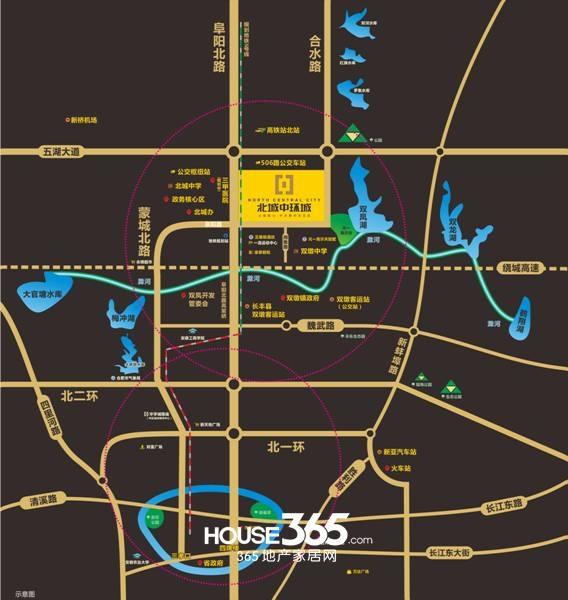 北城中环城交通图