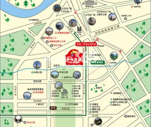 中海康城交通图