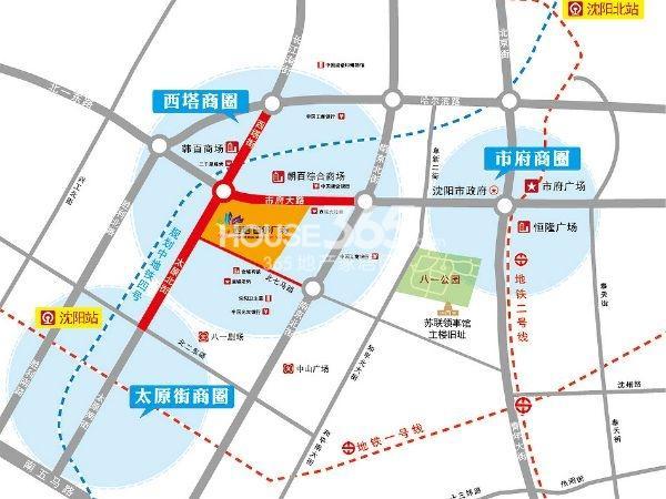 西塔首尔广场交通图