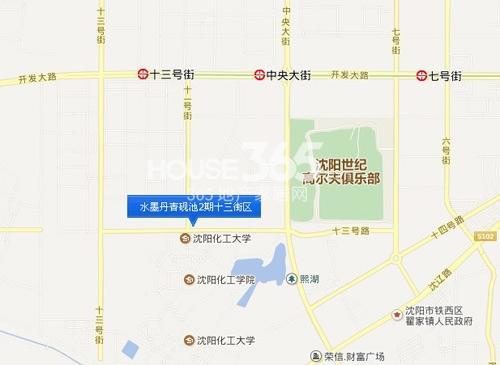 水墨丹青砚池2期十三街区交通图