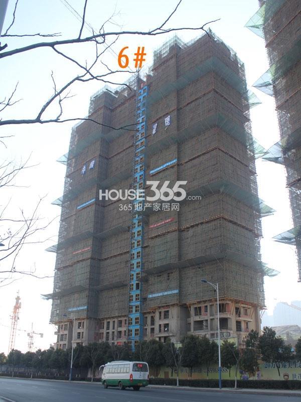 世茂香槟湖6#楼工程实景图(2014.1.23)