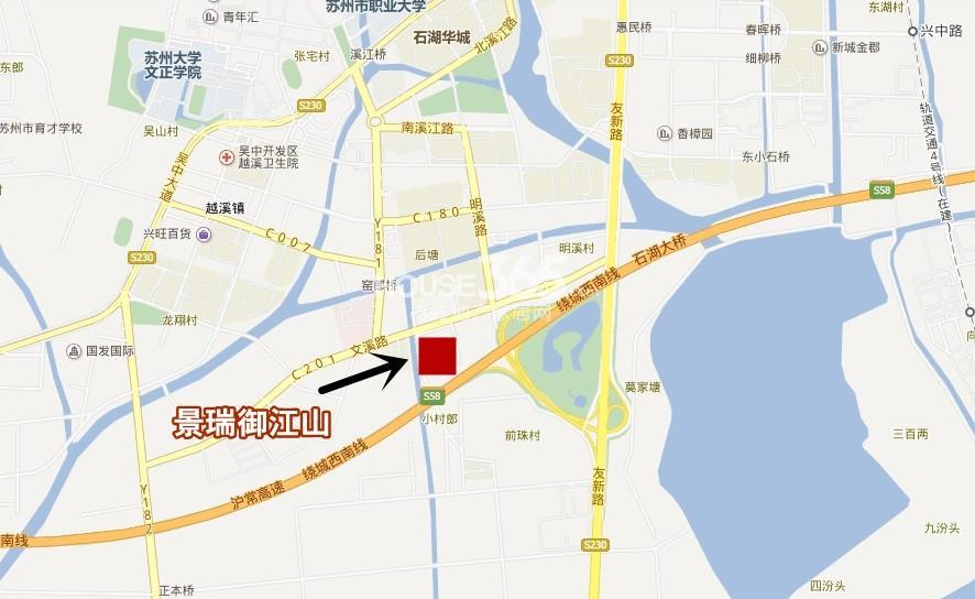 景瑞御江山交通图