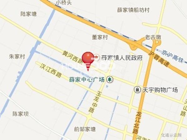 九龙仓年华里交通图