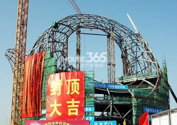 无锡万达文化旅游城展示中心实景图(2013.10 摄)