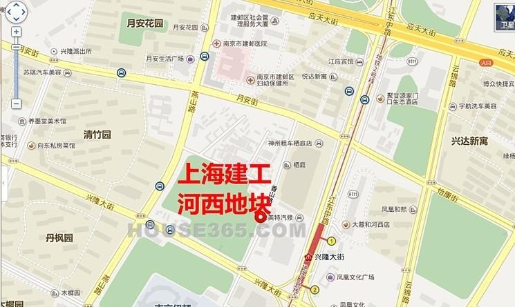 上海建工河西地块区位图
