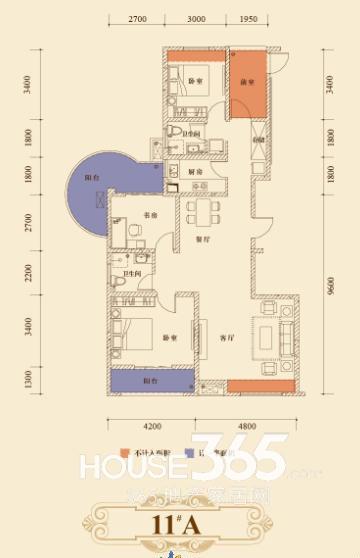 瑞泰心里城11#楼A户型