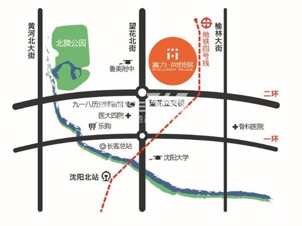 富力尚悦居交通图