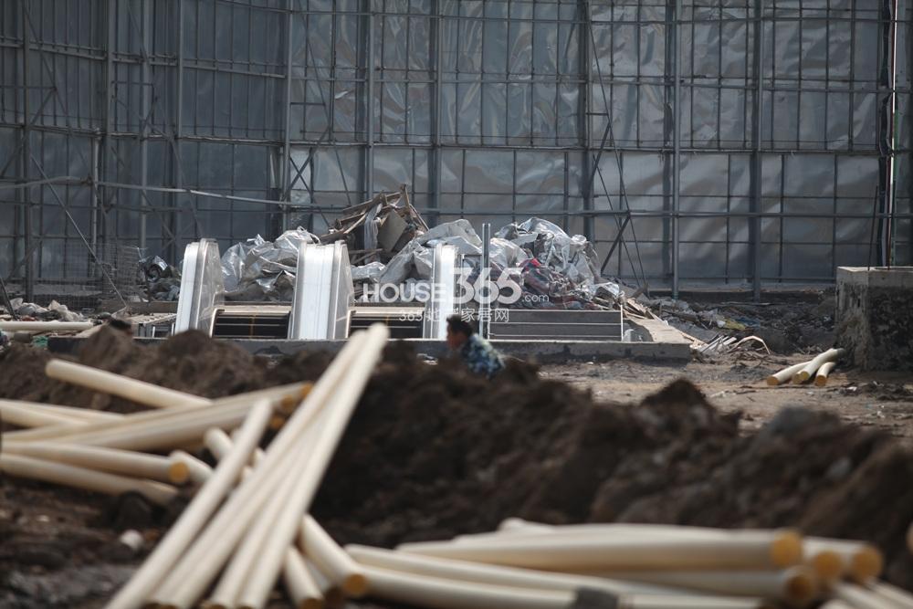 东方万汇城周边在建地铁站实景图(3.26)
