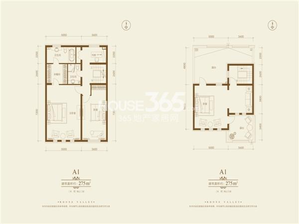 隆河谷一期275平别墅楼层图