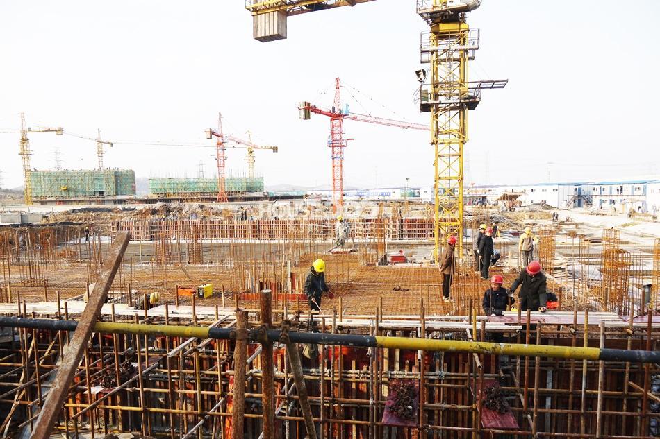 银亿东城10、11街区已经开工(3.15)