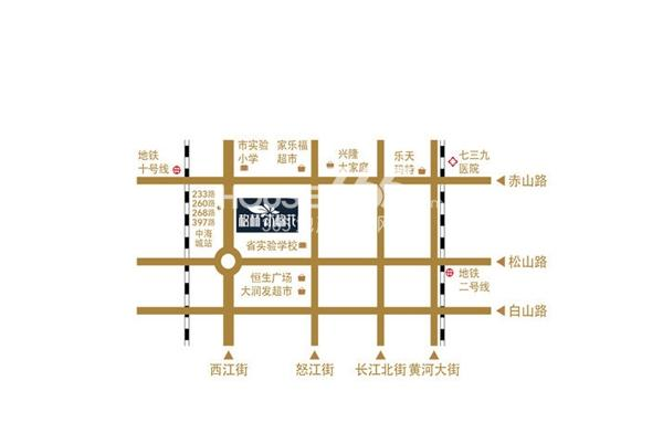 格林木棉花交通图