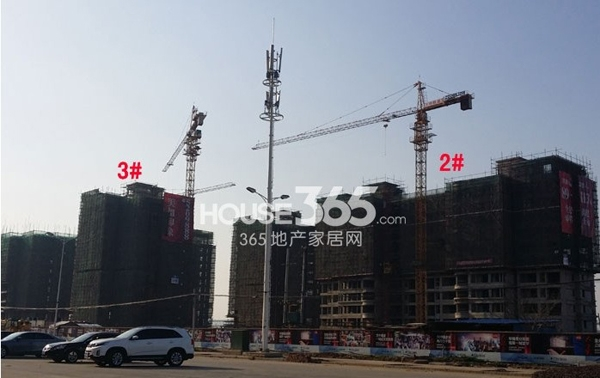 华强城美加印象北区2#、3#楼工程进度(拍摄于2014.3.31)