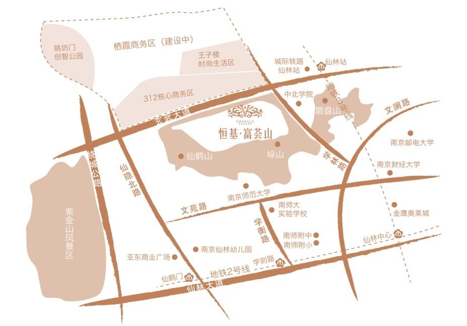 恒基富荟山交通图