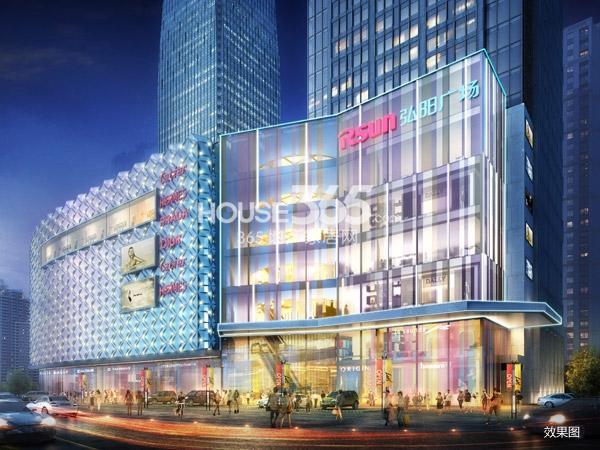 弘阳广场商业夜景效果图