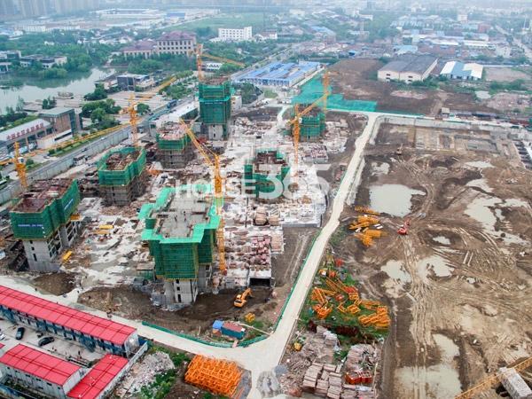 常州宝龙城市广场[青枫林语]工程鸟瞰图(2014.4.20)