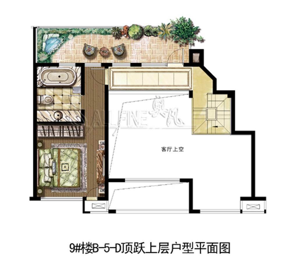 中山首府9#楼顶跃复式上层——178.73㎡(5.8)