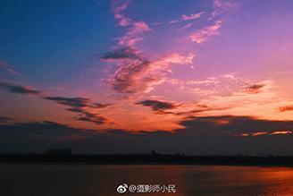 高清|夕阳西下 芜湖�赂鄞笄沤�堤冬季夜色惹人醉