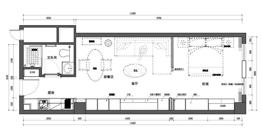夫子庙金街B户型-平面图(约61.81)