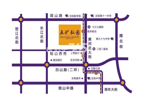 五矿弘园交通图