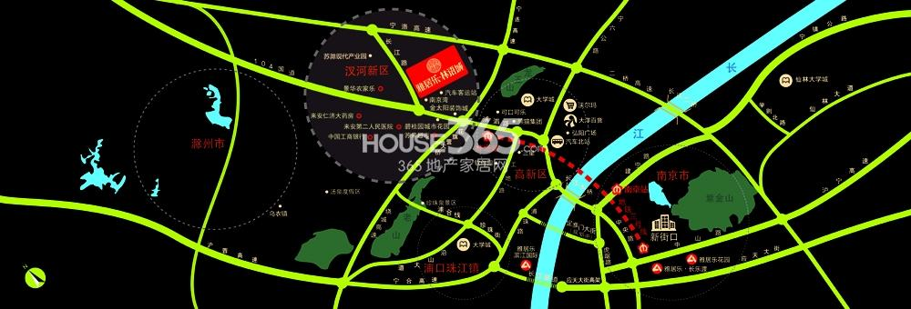雅居乐林语城交通图