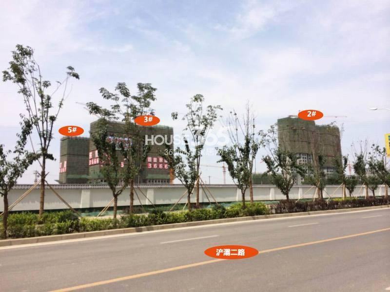 天朗蔚蓝东庭2/3/5#楼工程进度图(2014.6.12)