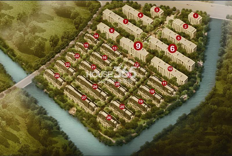 绿城西溪融庄鸟瞰图